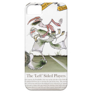 football left wing, red white kit iPhone 5 cover