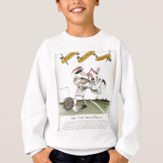 football left wing, red white kit sweatshirt