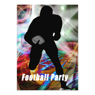 Football Lights Party Card