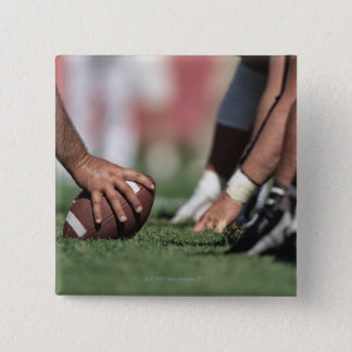 Football line of scrimmage 15 cm square badge