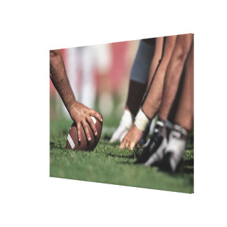 Football line of scrimmage canvas print