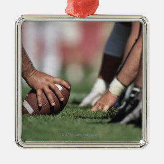 Football line of scrimmage christmas ornament