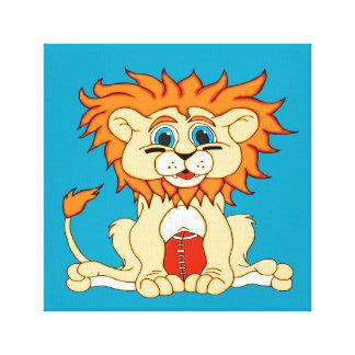 Football Lion Canvas Print