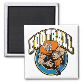 Football Logo Square Magnet