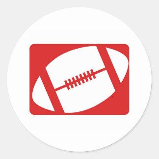 Football Logo Round Sticker