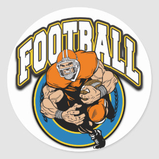Football Logo Round Sticker