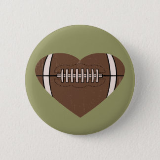 Football Love 6 Cm Round Badge