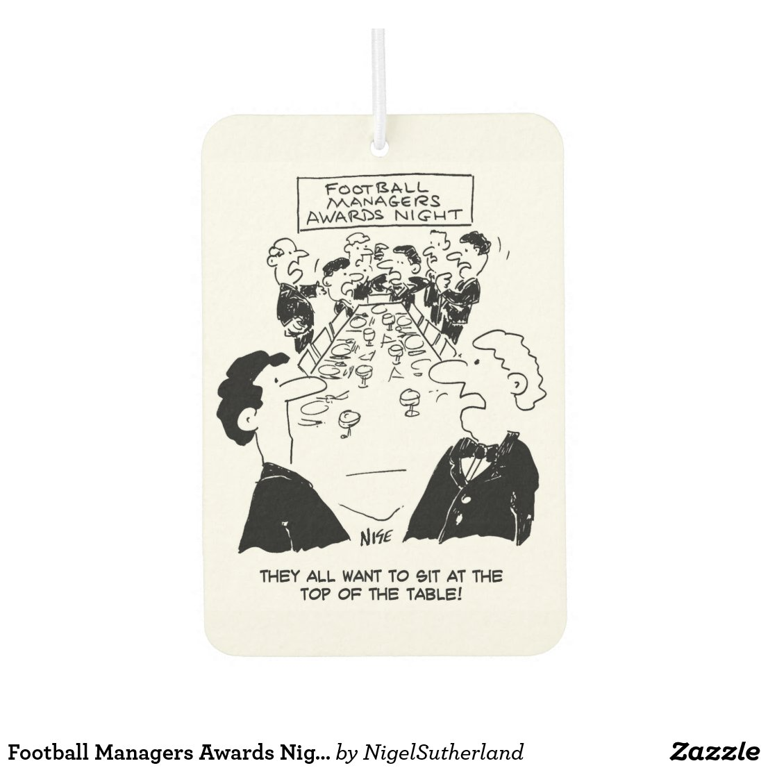Football Managers Awards Night Car Air Freshener