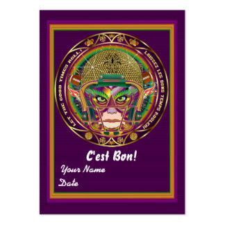 Football Mardi Gras Throw Card View Notes Please Business Card Template