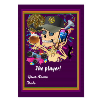 Football Mardi Gras Throw Card View Notes Please Pack Of Chubby Business Cards