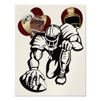 Football Maroon and Gold Party Invitation - SRF