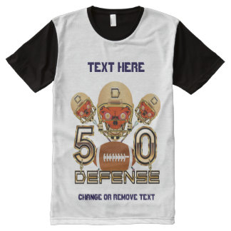 Football Men's Small All-Over Printed Panel All-Over Print T-Shirt