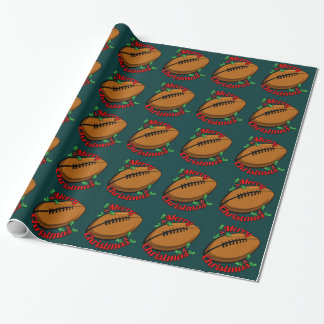 Football Merry Christmas Wrapping Paper