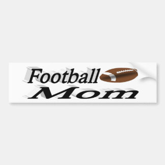 Football Mom 3D Bumper Sticker
