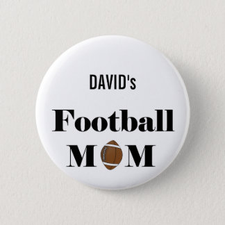 football mom 6 cm round badge