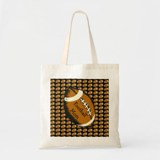 Football Mom Black and Brown Sports Budget Tote Budget Tote Bag