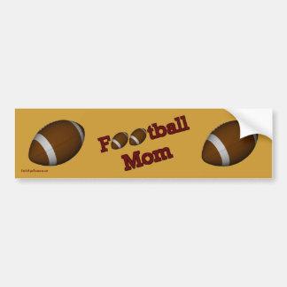Football Mom Cute Bumper Sticker