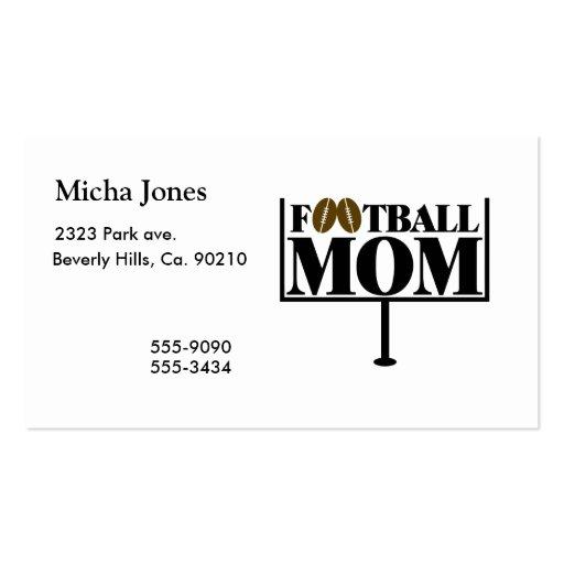 Football Mom Goal Post Business Card Template