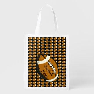 Football Mom Sports Reusable Grocery Bag