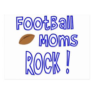 Football Moms Rock ! (blue) Postcard