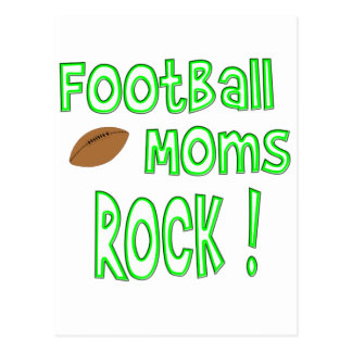 Football Moms Rock ! (green) Postcard