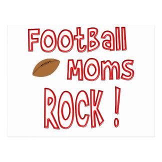 Football Moms Rock ! (red) Postcard