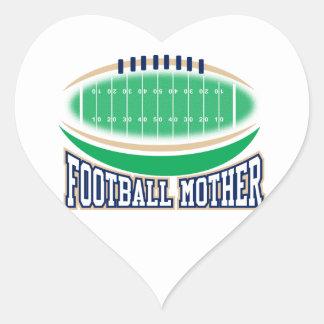 Football Mother Heart Sticker
