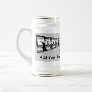 FOOTBALL Mug Stein Black and Silver - SRF