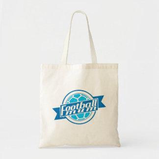 Football Mum (blue) Canvas Bags