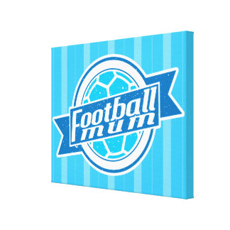 Football Mum (blue) Canvas Print