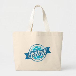 Football Mum (blue) Jumbo Tote Bag