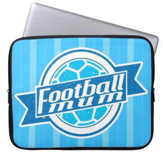 Football Mum (blue) Laptop Sleeve