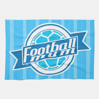 Football Mum (blue) Tea Towel