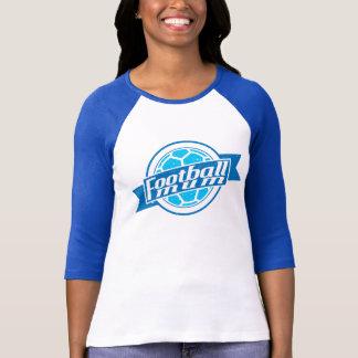 Football Mum (blue) T Shirts