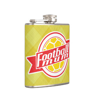 Football Mum Hip Flask, British Soccer Mom Hip Flask