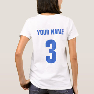Football Mum Name & Number Back Print T-Shirt