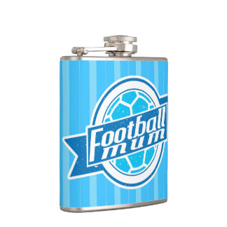 Football Mum Stainless Steel Hip Flask