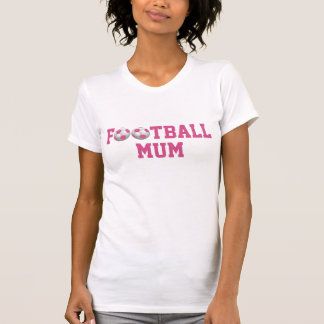 Football Mum v2 Soccer Ball Pink and White T Shirts