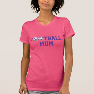 Football Mum v2 Soccer Ball Purple and White T Shirts