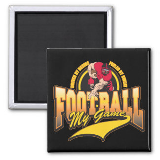 Football My Game Square Magnet