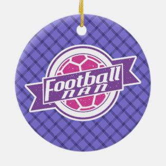 Football Nan (Grandmother) Christmas Ornament