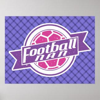 Football Nan (Grandmother) Poster Print