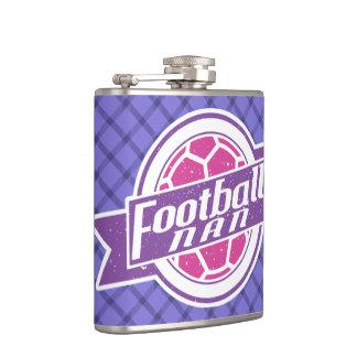 Football Nan Stainless Steel Hip Flask, Soccer Hip Flask