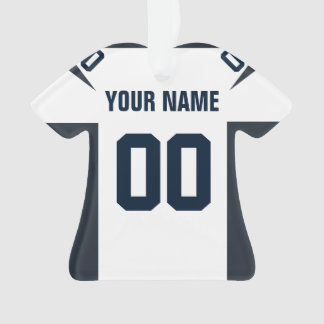 Football Navy, Red & White Jersey Ornament