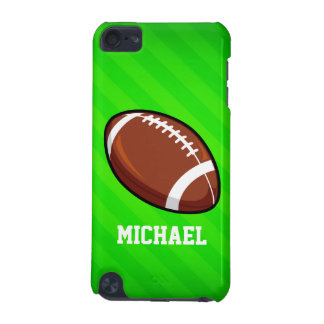 Football; Neon Green Stripes iPod Touch 5G Covers