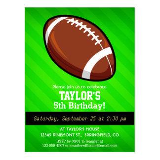 Football; Neon Green Stripes Postcard