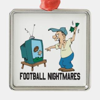 Football Nightmares Christmas Ornament