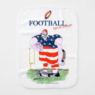 Football no prisoners, tony fernandes burp cloth