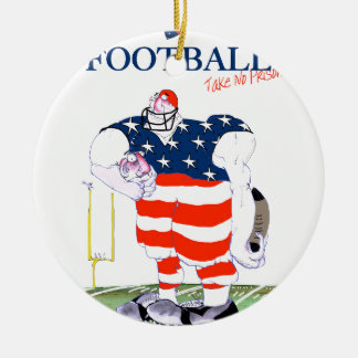 Football no prisoners, tony fernandes round ceramic decoration