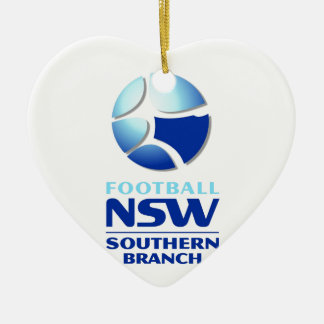 Football NSW Southern Branch Official Merchandise Ceramic Heart Decoration